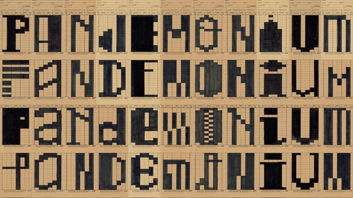 Pandemonium typographic explorations