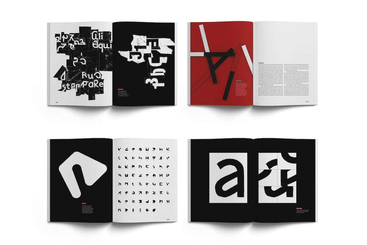 Typographic spreads from Pandemonium