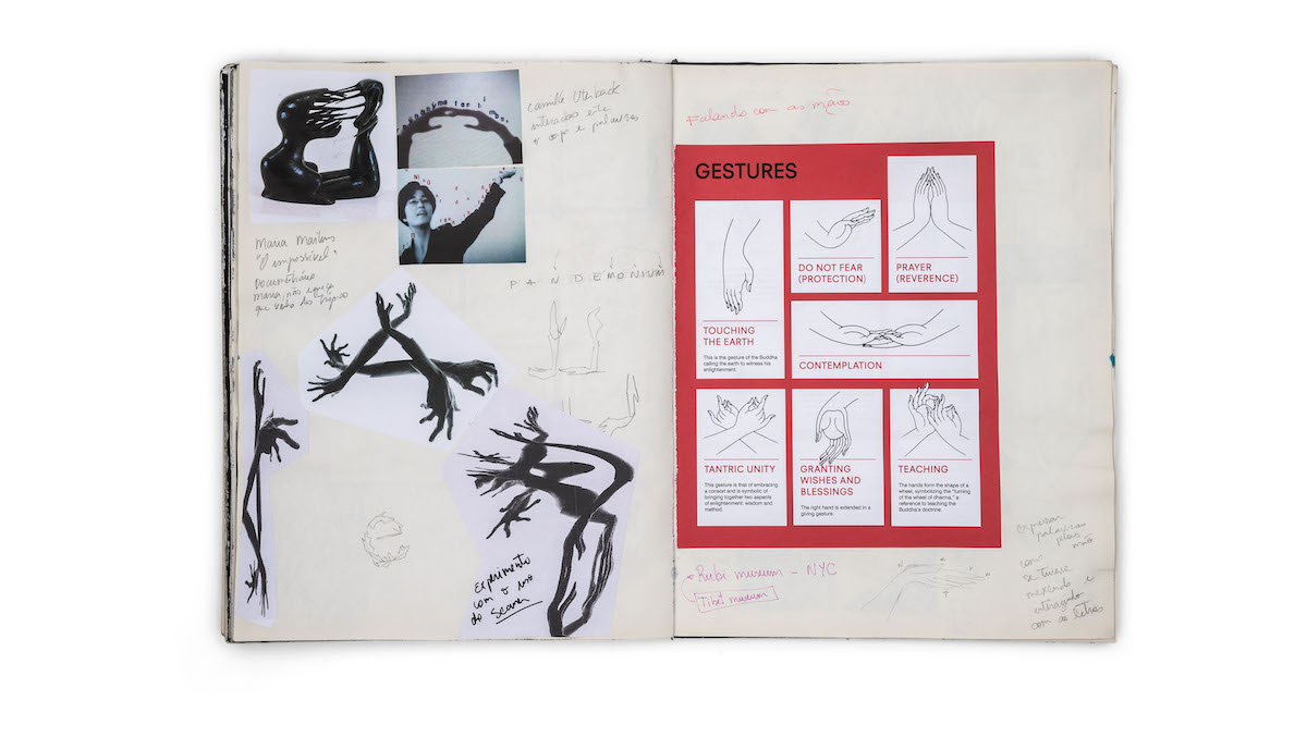Sketchbook research for typographic experiments