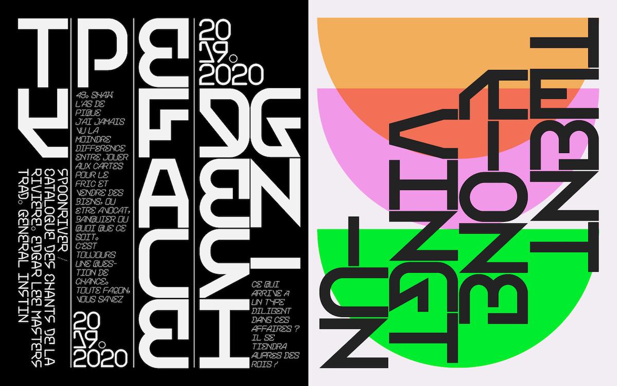 BlackJack monospaced sans typeface specimen