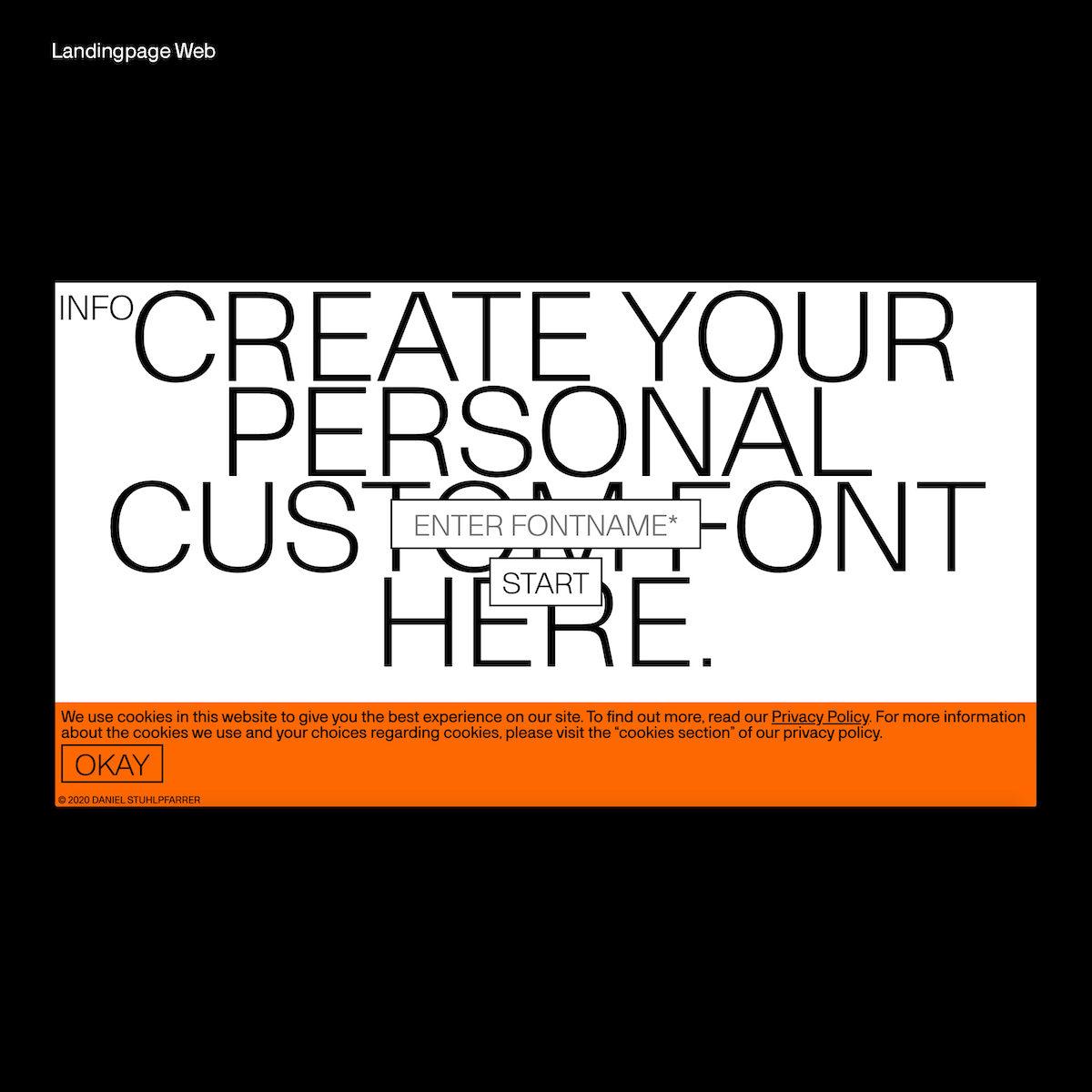 Custom Font Generator Landingpage