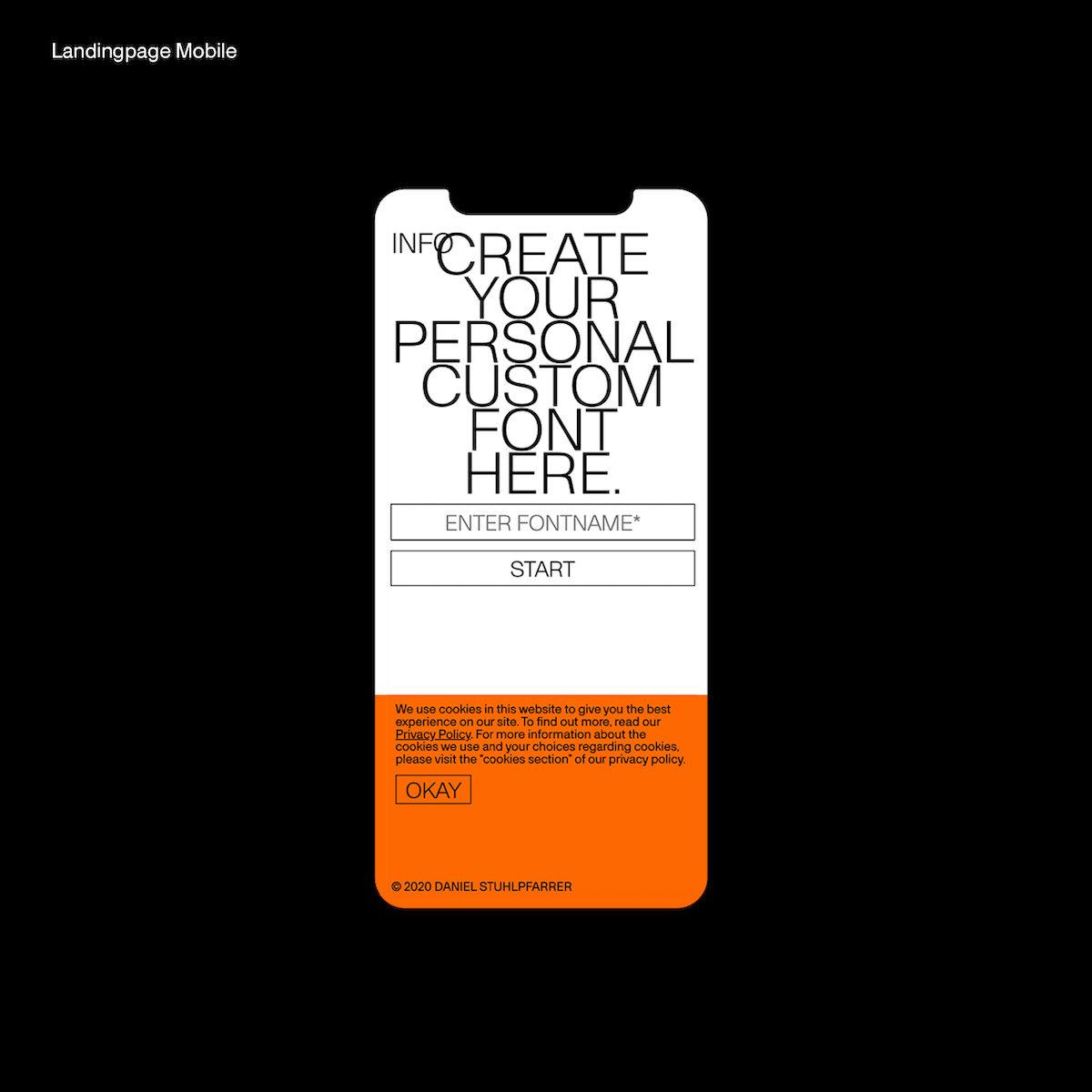 Custom Font Generator Mobile Landingpage