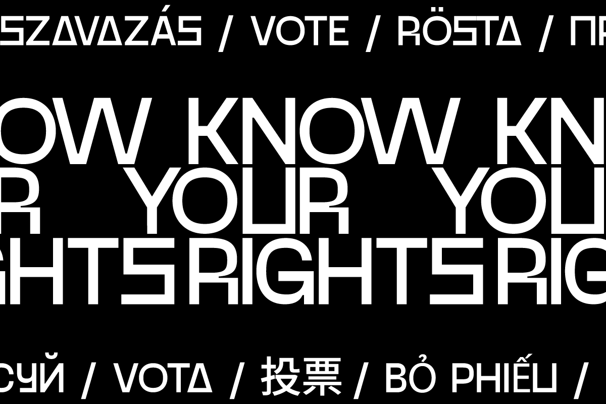'Know Your Rights' Typography piece