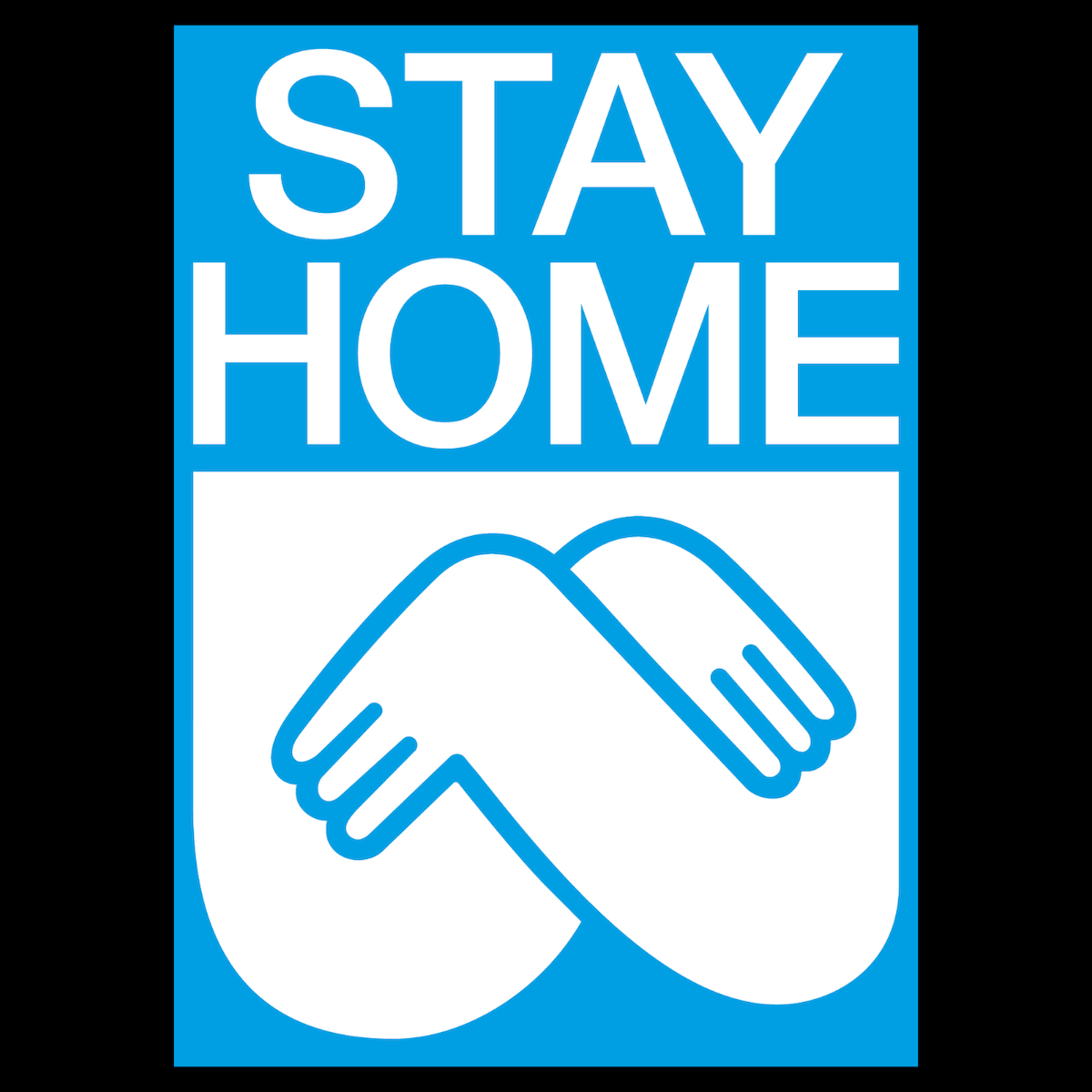 Stay Home poster, part of Poster Jam's challenge with Helvetica & Typefesse Pleine showing Filippos' sharp visual language