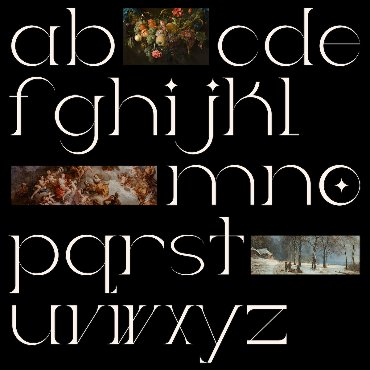 Ladybird Light font specimen
