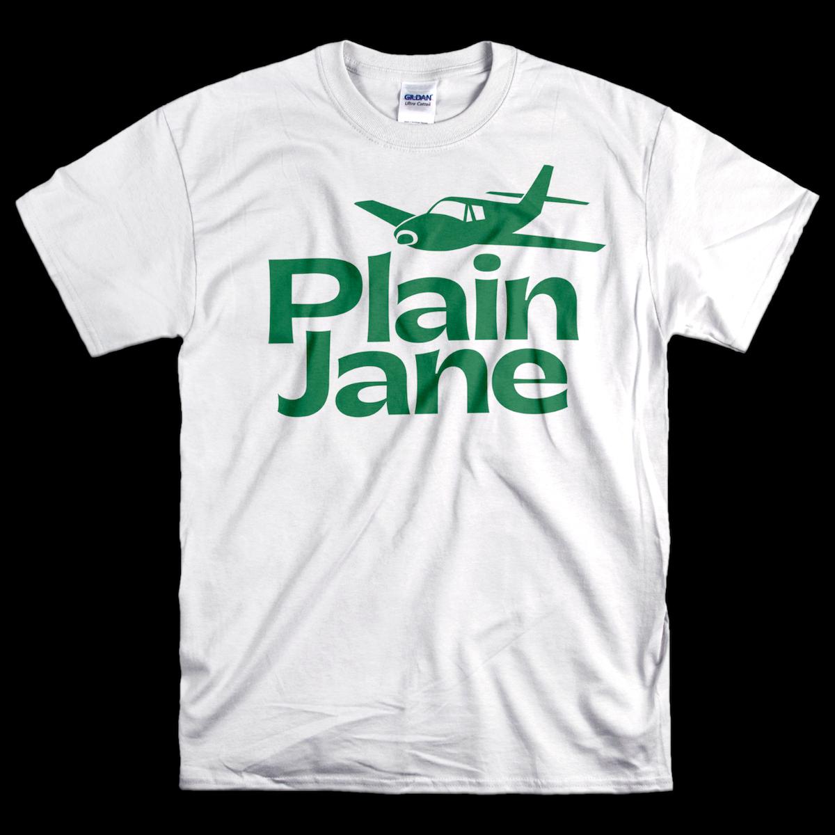 Plain Jane tee with Gatwick font