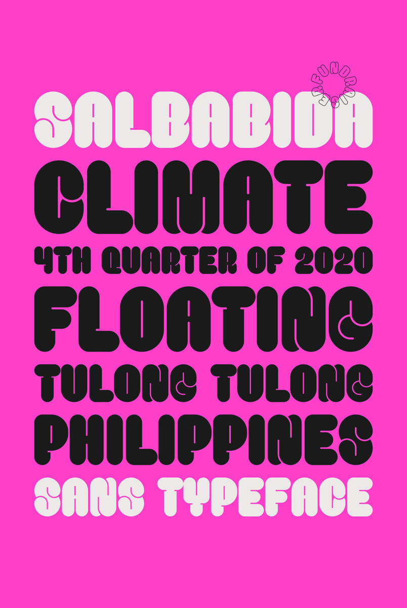 Salbabida Sans typeface