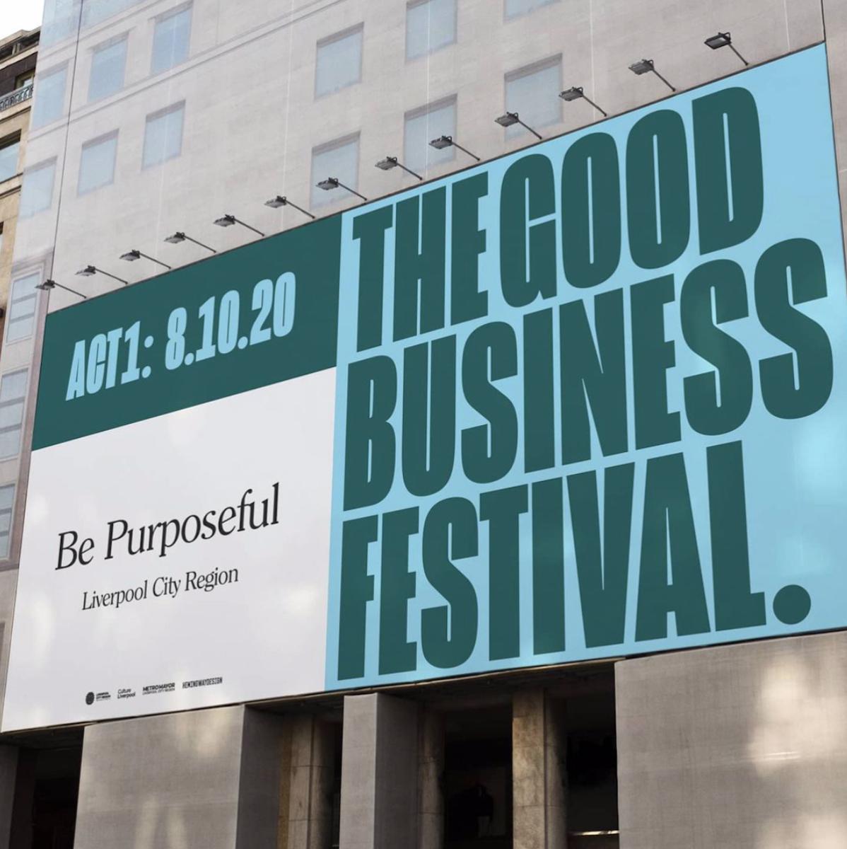 Hemingway Design's branding & visual identity for The Good Business Festival
