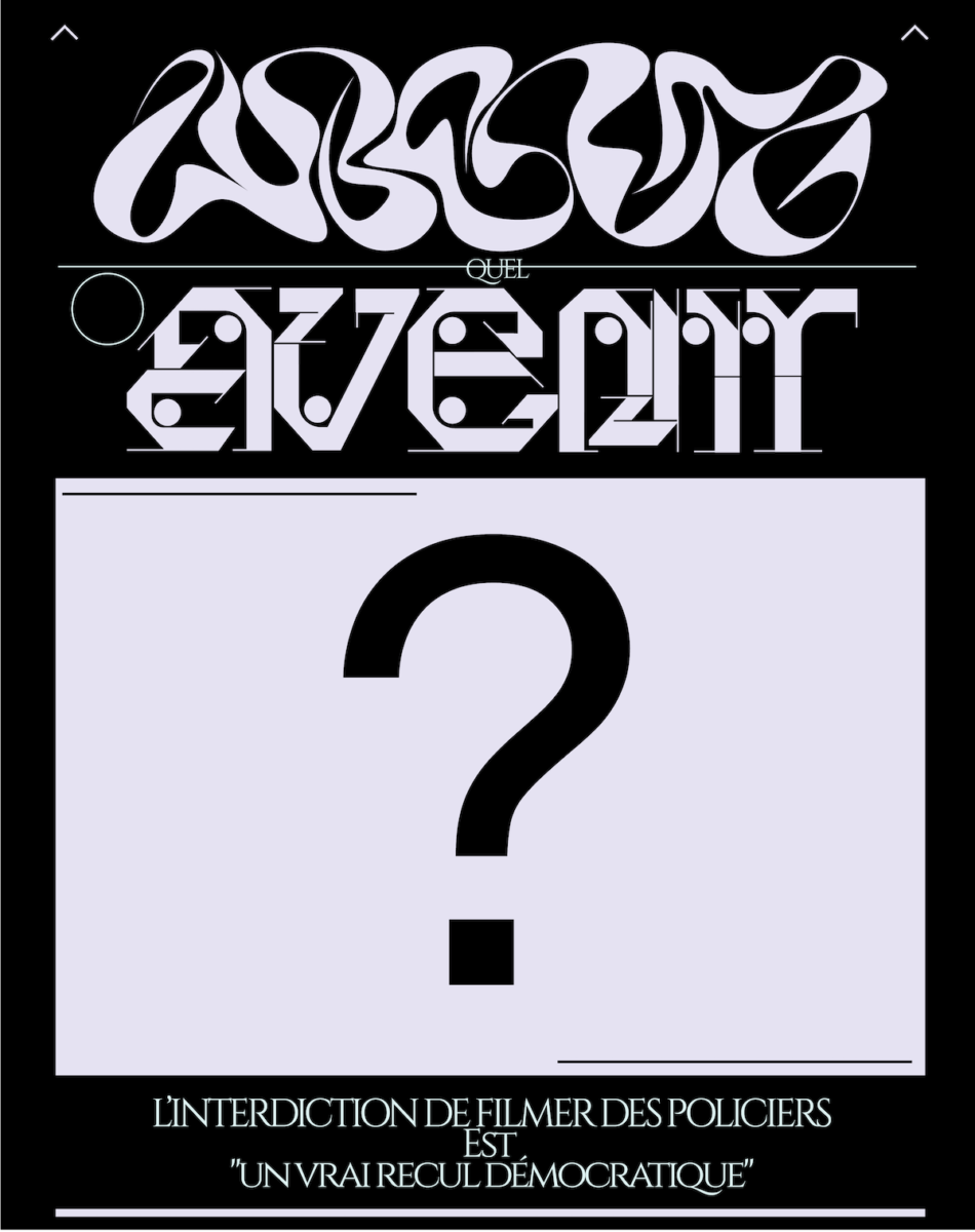Typographic poster featuring IDAF and Complima typefaces.