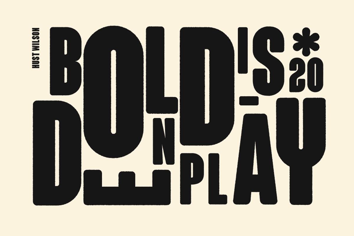 'Bolden Display' by Hust Wilson