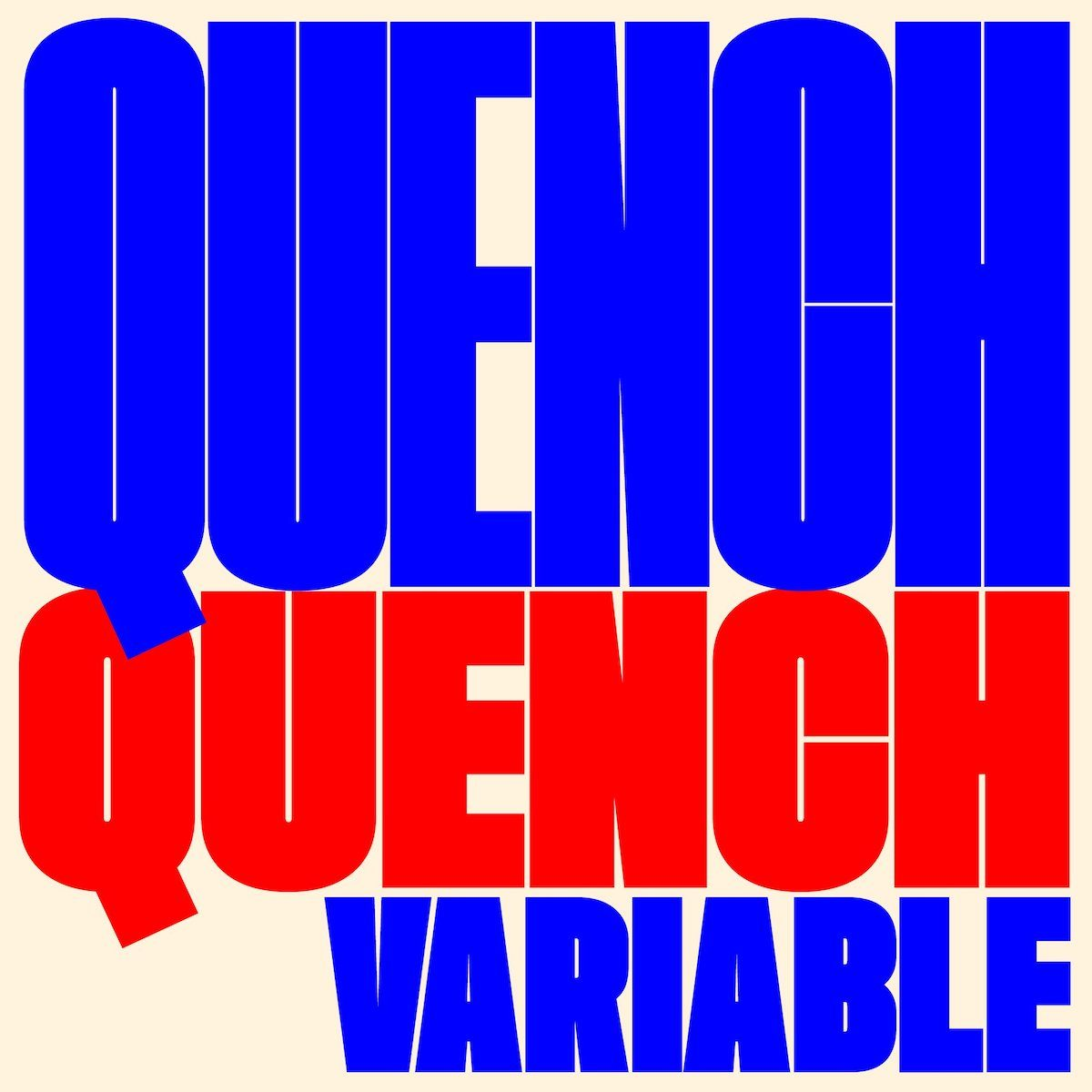 Quench Variable Display Font