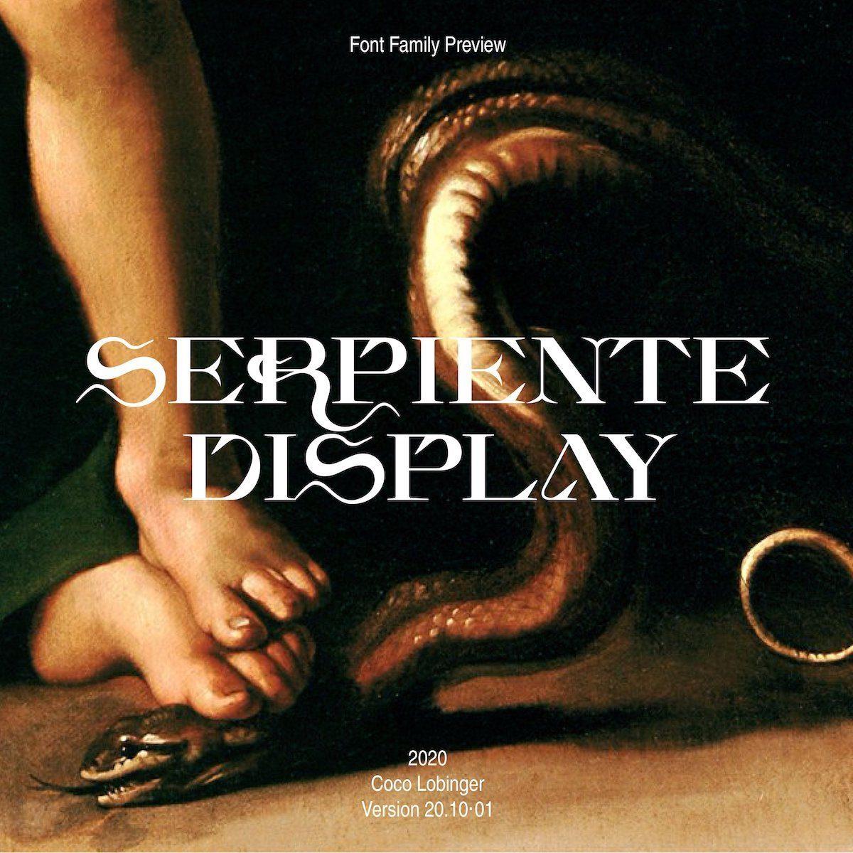 Serpiente Display Typeface Specimen