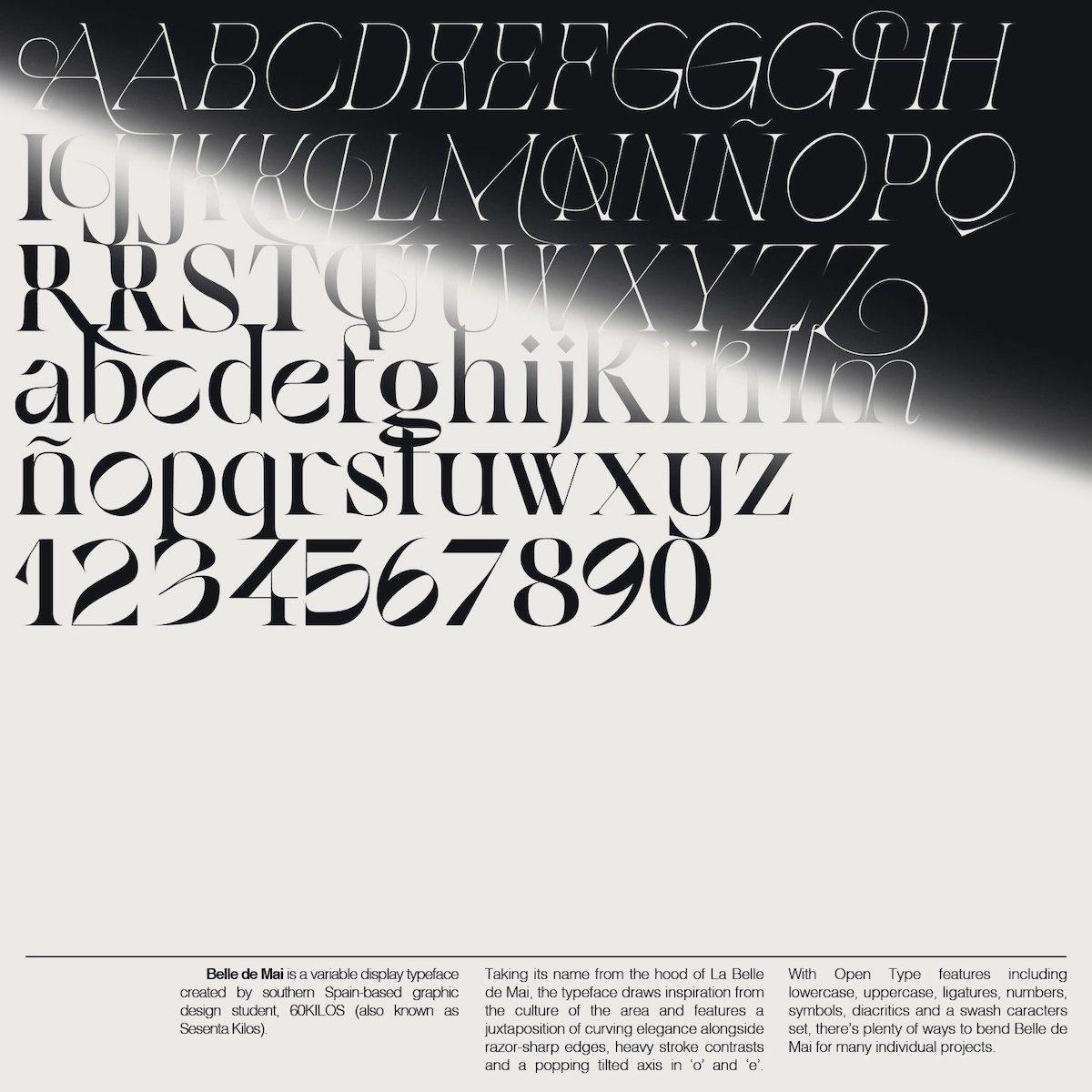 Belle De Mai Variable Typeface