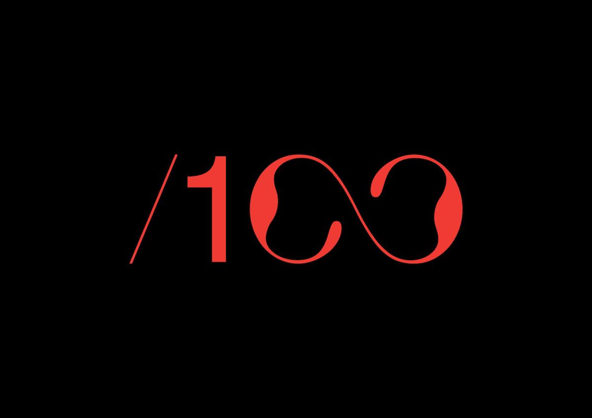 Typographic identity and web design for /100 - logo