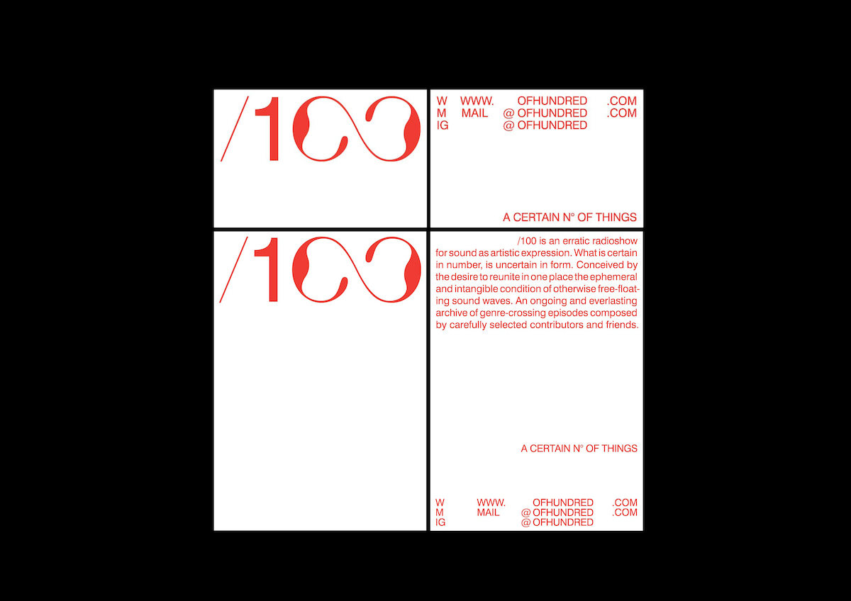 Typographic identity and web design for /100