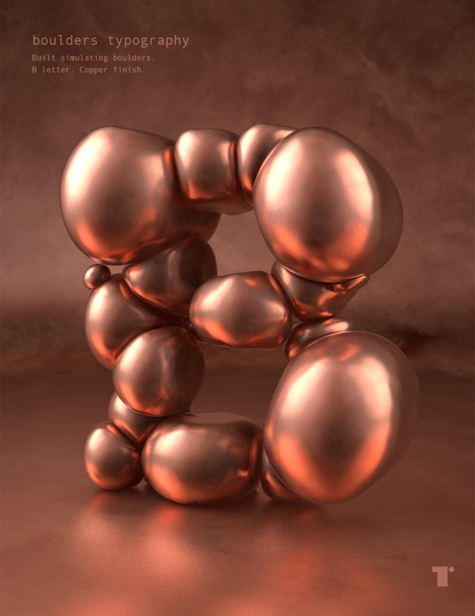 'Boulders' 3D Type