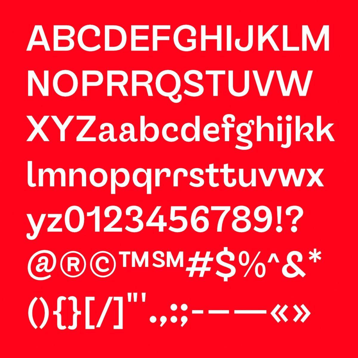 Sans serif grotesque typeface, TG Glifko.