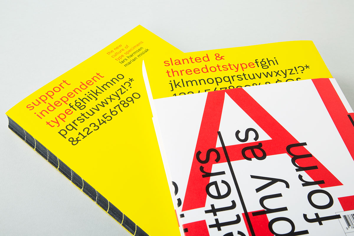 Support Independent Type by Lars Harmsen and Marian Misiak, published by Slanted, December 2020 - Cover