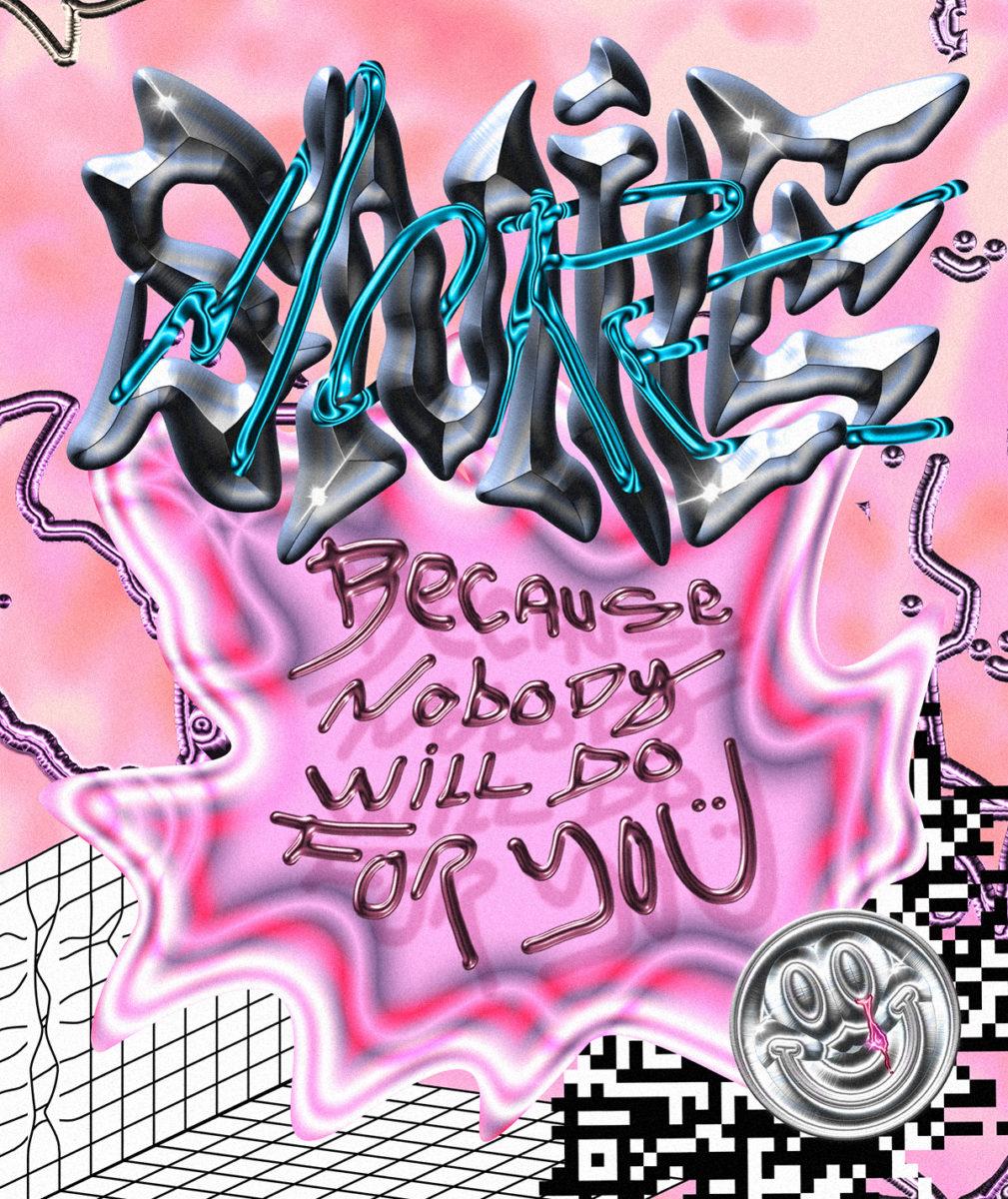 'Smile More' experimental poster made in quarantine
