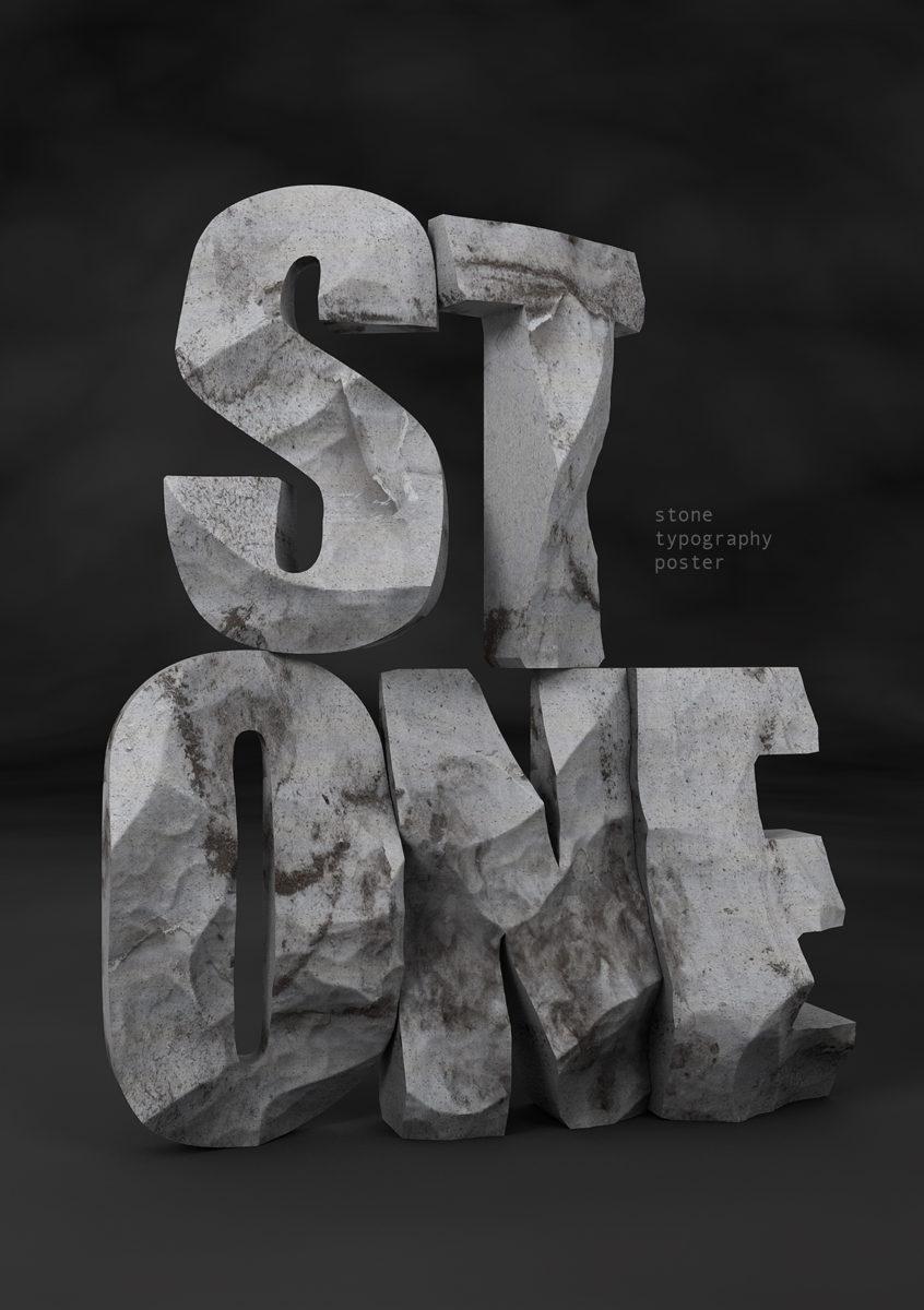 'Stone' 3D Type