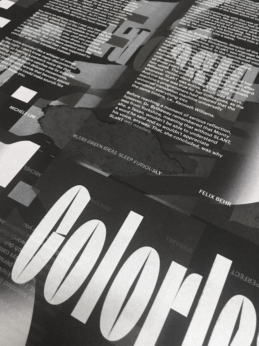 Future Perfect by Ana Resende + João Novais + The Royal Studio, 2020 Magazine Printing tests