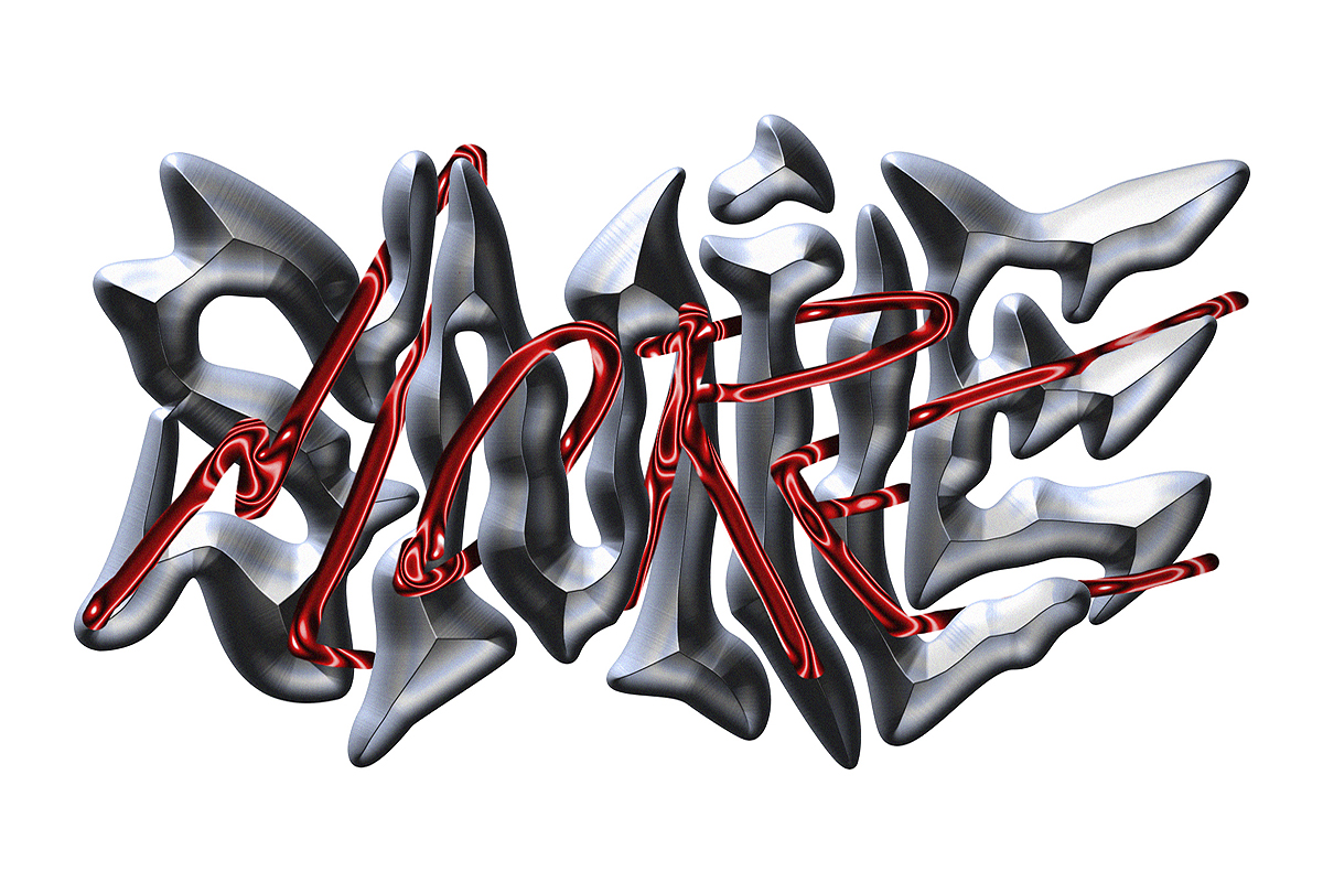 'Smile More' experimental lettering made in quarantine