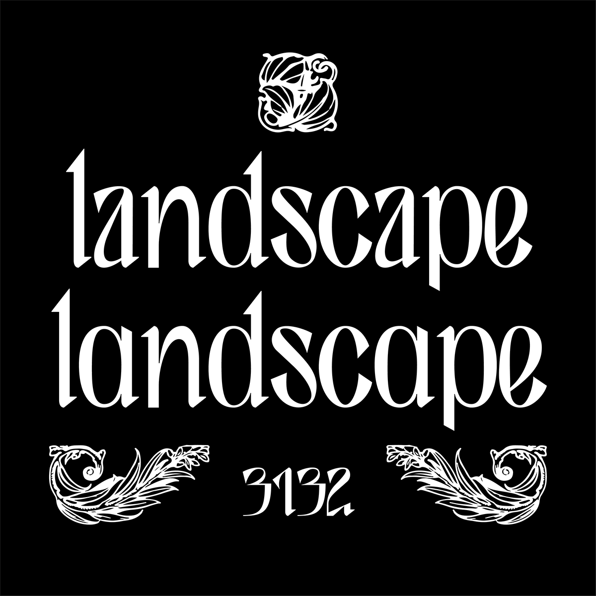 'landscape' set in Durance typefaces' two styles