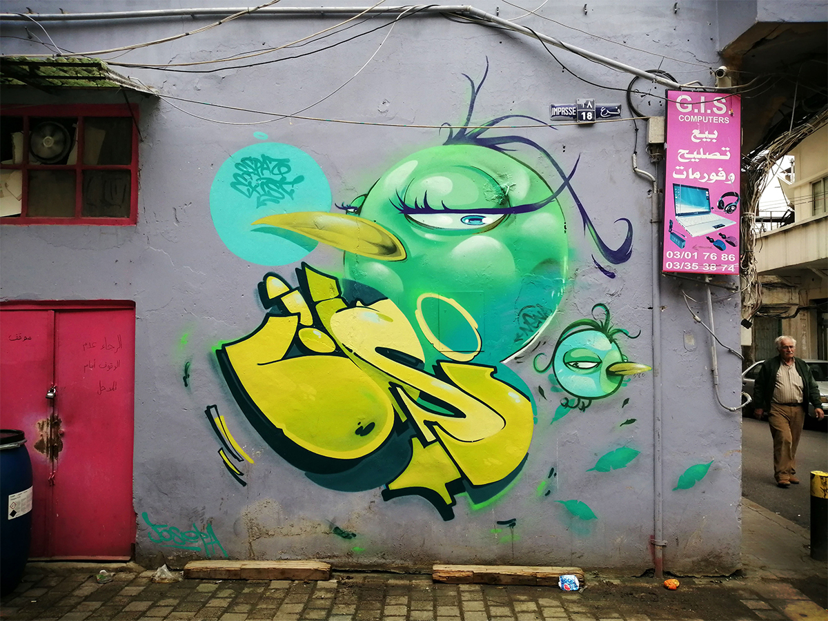 """""""Divine Messenger"""" lettering graffiti collaboration with @spazuno"""