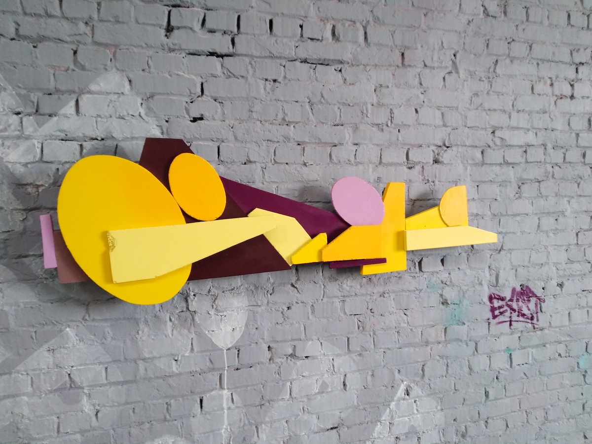 Woodwork deconstructed lettering artwork from residency at Allee Du Kaai, Belgium, Brussels, through the @chemistrygraffiti project