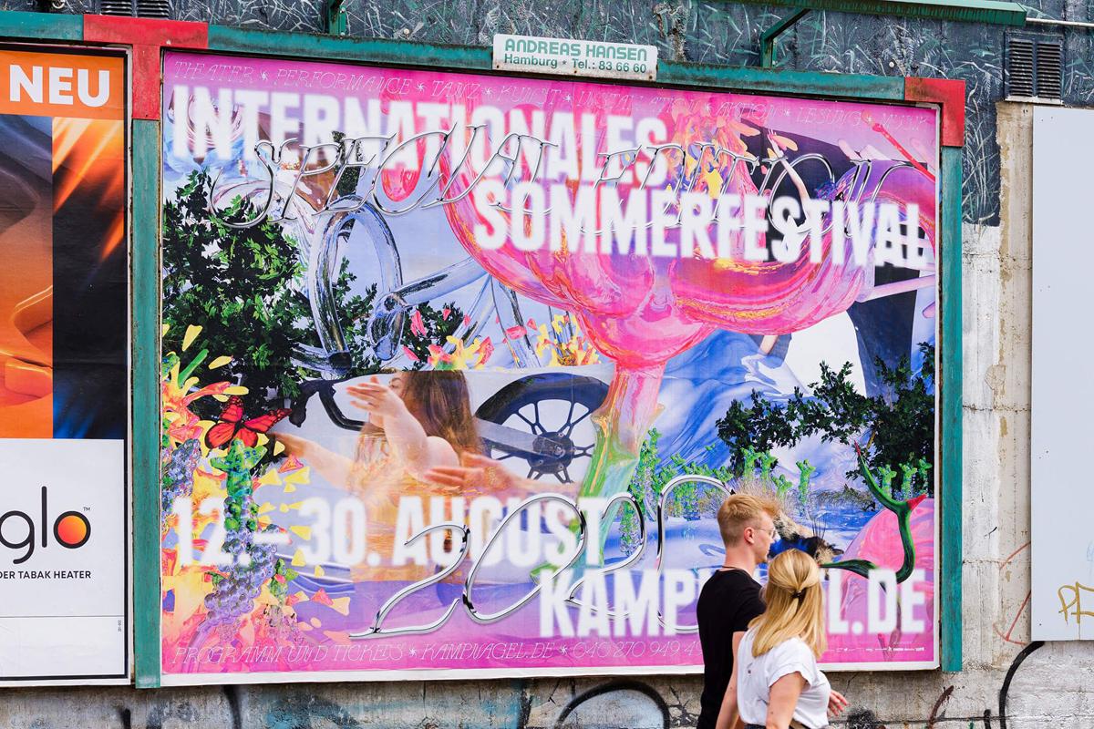 Kampnagel's Internationales Sommerfestival 2020 visual identity