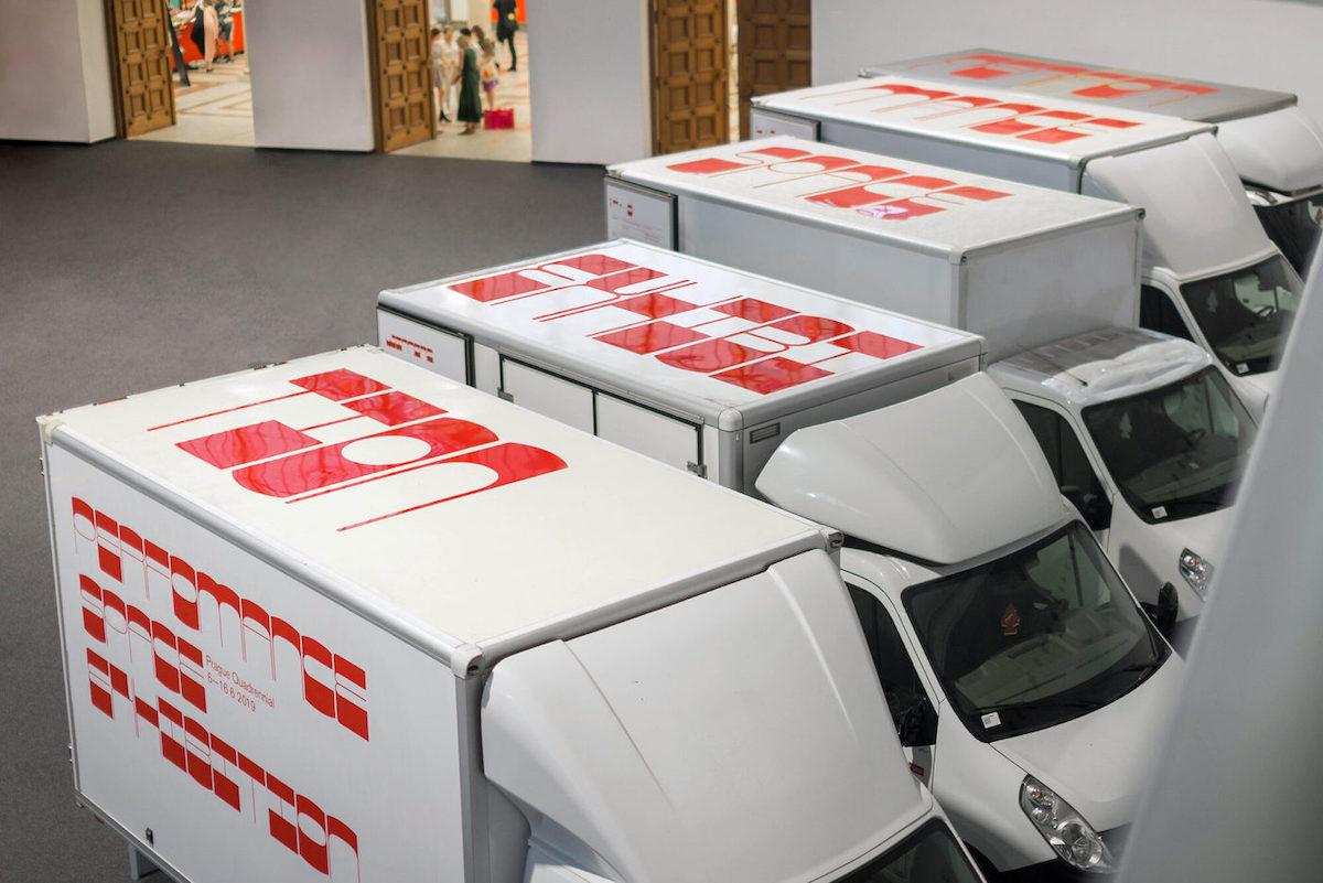 Blaze Type's Zoo font in-use, art installation & video by Matěj Činčera and Jan Kloss of OKOLO.