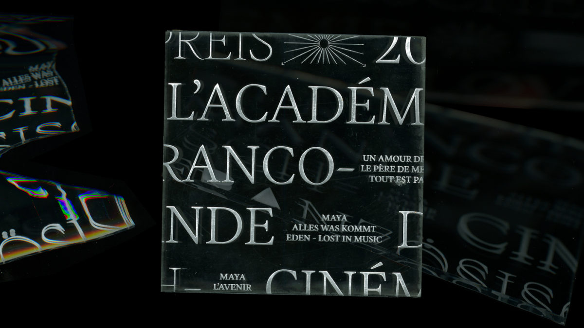Blaze Type's Inferi font in-use, laser cut tests on plexiglass by Nicolas Turki Duchesnay.