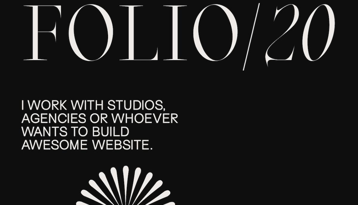 Blaze Type's Oroban font in-use, portfolio website design by Sam Phlix.