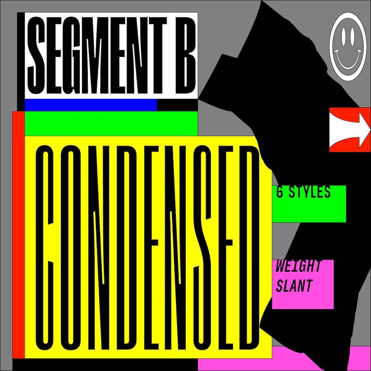 Segment B Typeface - Condensed Style