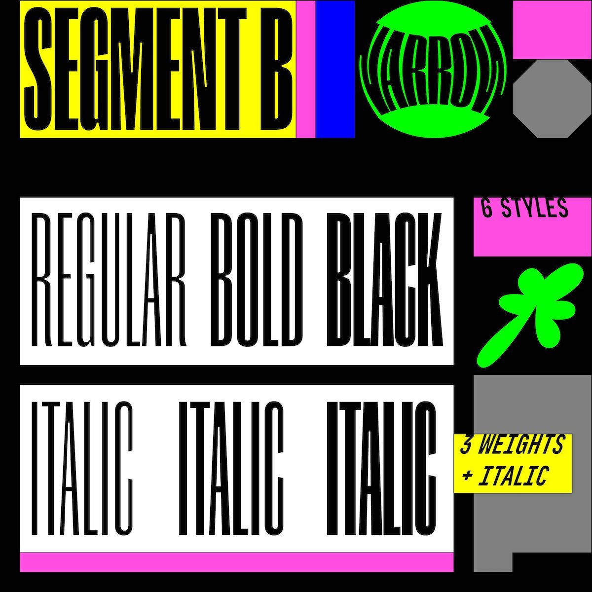 Segment B Typeface - Narrow Style