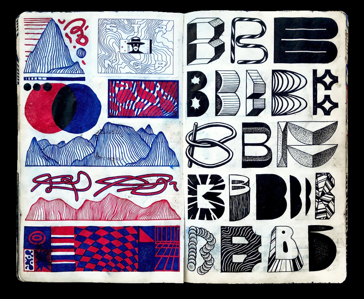 Sketchbook page 'B'