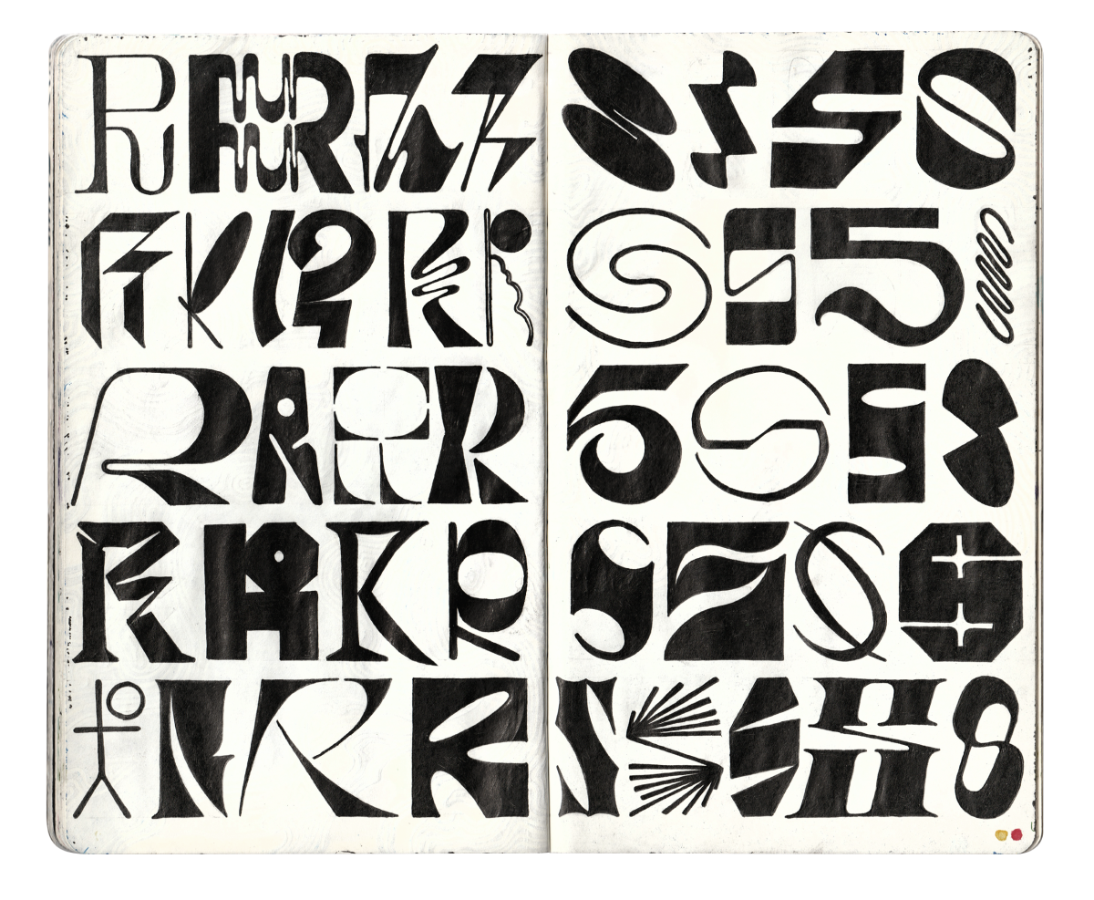 Sketchbook pages 'R' and 'S'