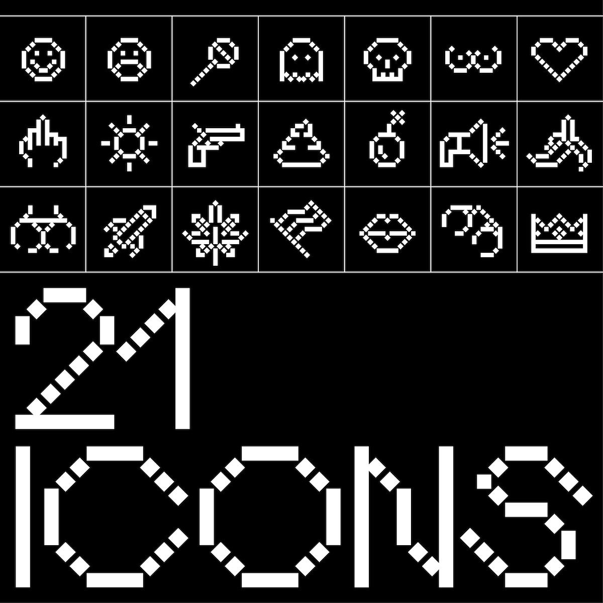 Analo Grotesk pixel font icons