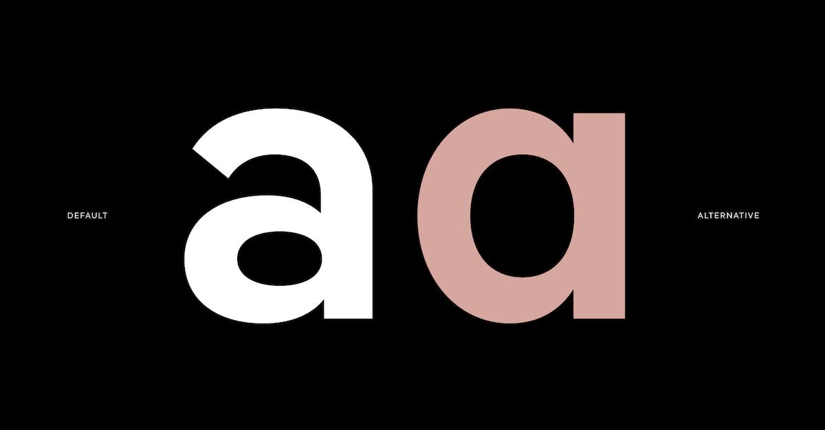Pangea Multi-Script Typeface Graphic - 'a' alternate