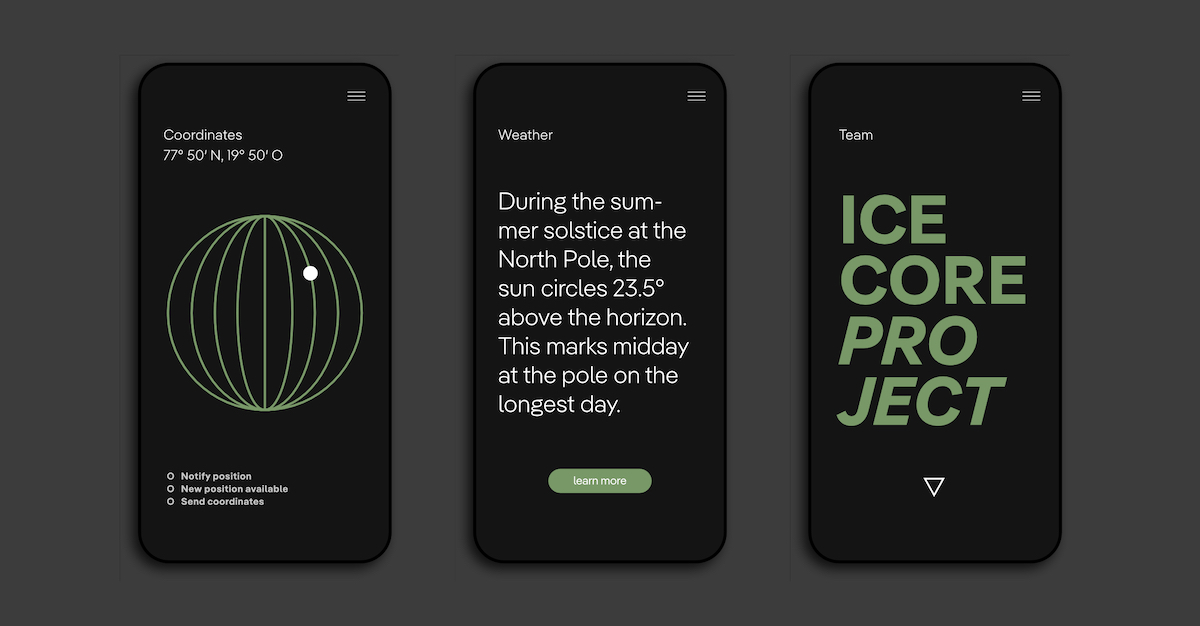 Pangea Multi-Script Typeface Graphic  - App mockup
