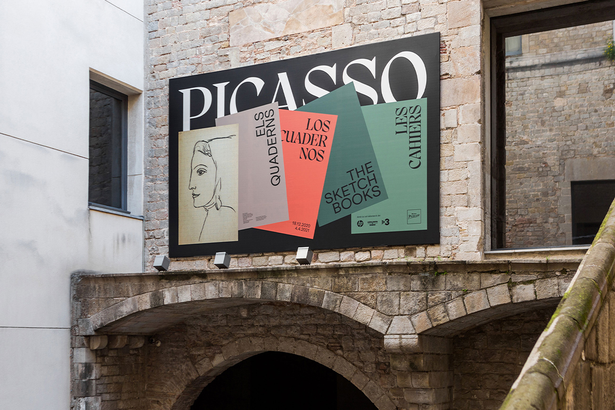 Graphic communication for Picasso. Els Quaderns exhibition at the Museu Picasso de Barcelona – billboard.