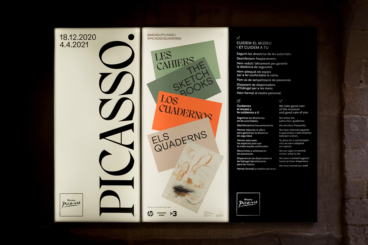 Graphic communication for Picasso. Els Quaderns exhibition at the Museu Picasso de Barcelona.