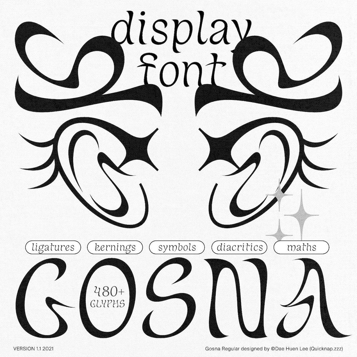 Gosna display typeface