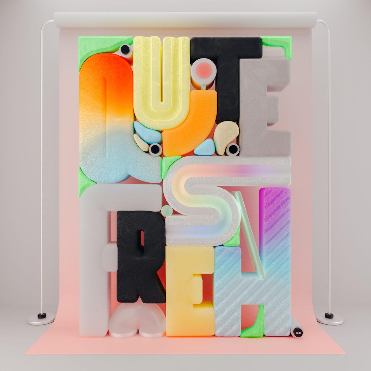 'Quite Fresh' – Feedbacks 3D Type Poster Series