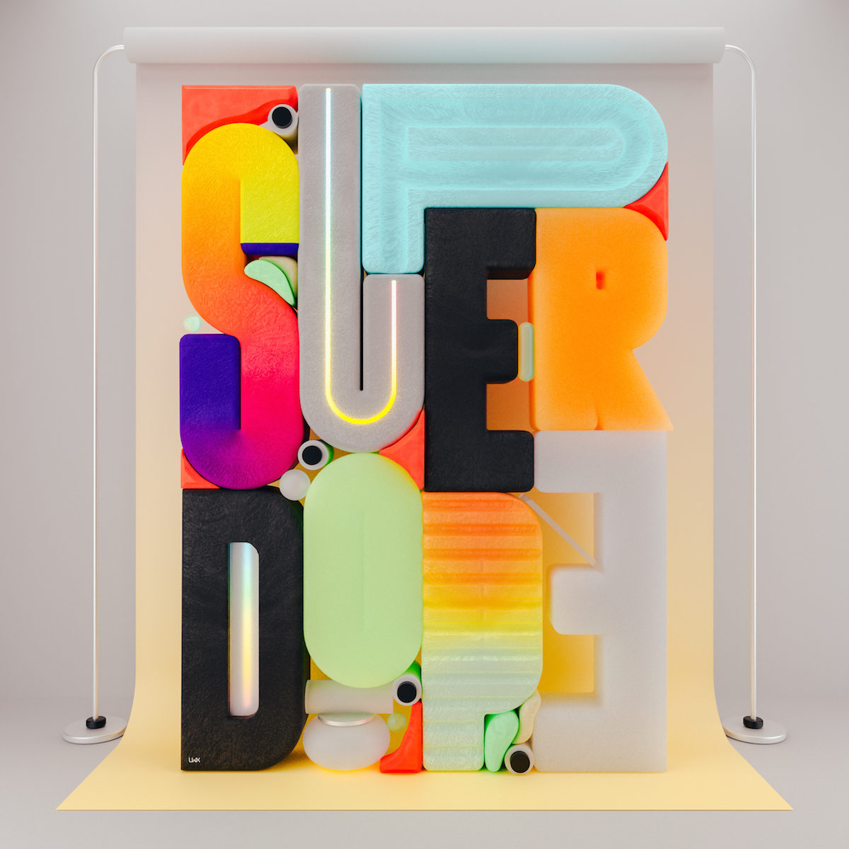 'Super Dope' – Feedbacks 3D Type Poster Series