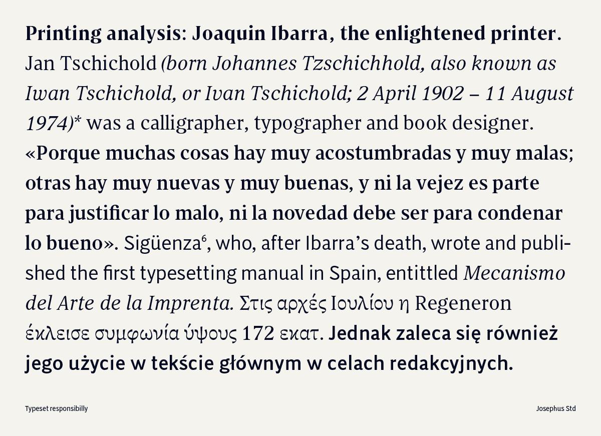 Josephus Std typeface by Jose Carratala