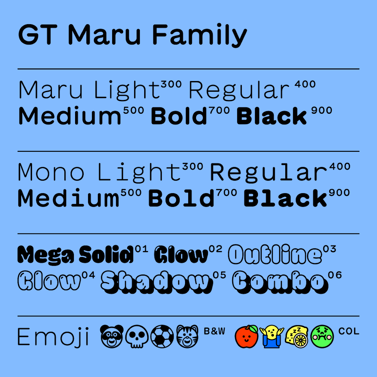 GT Maru new typeface