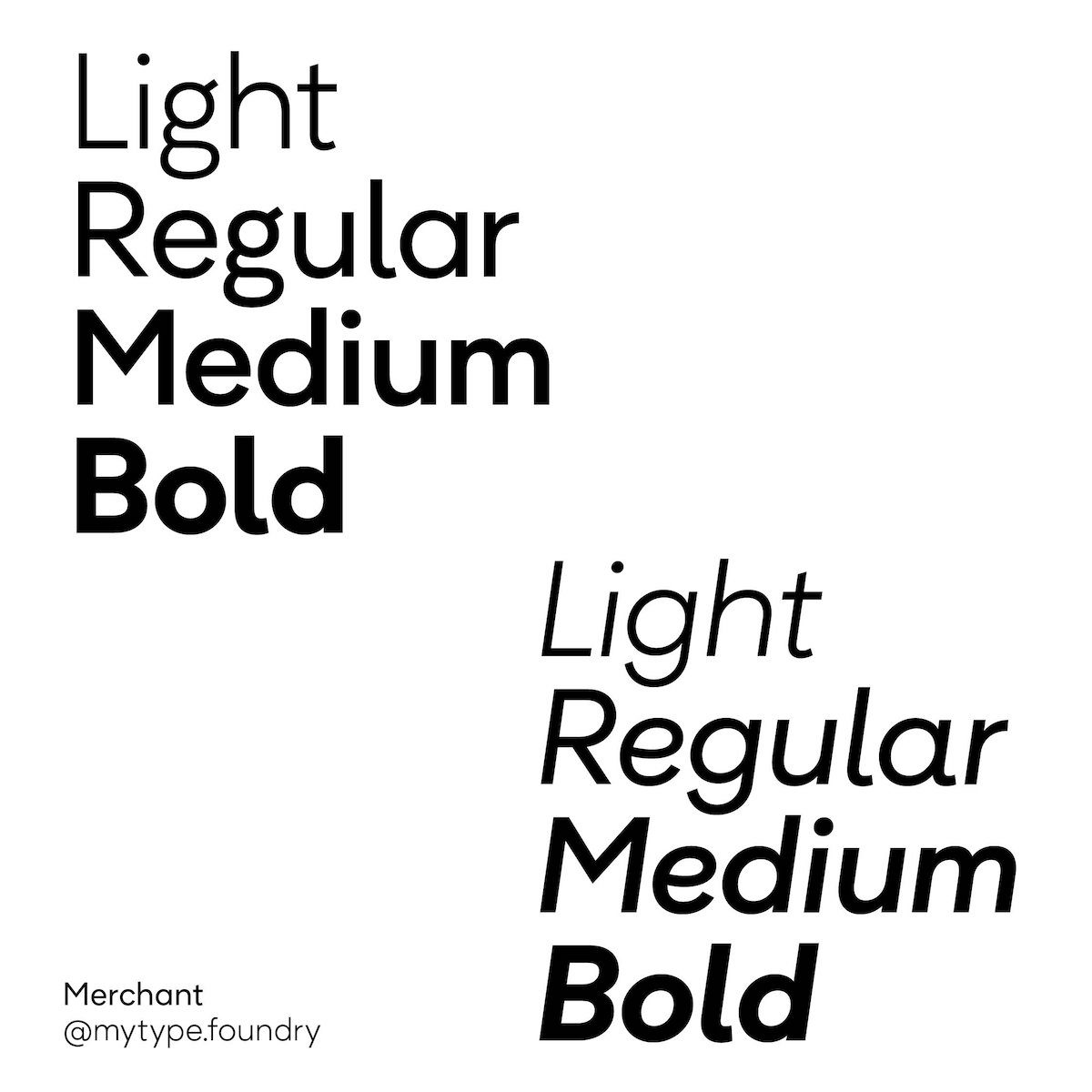 Merchant Typeface