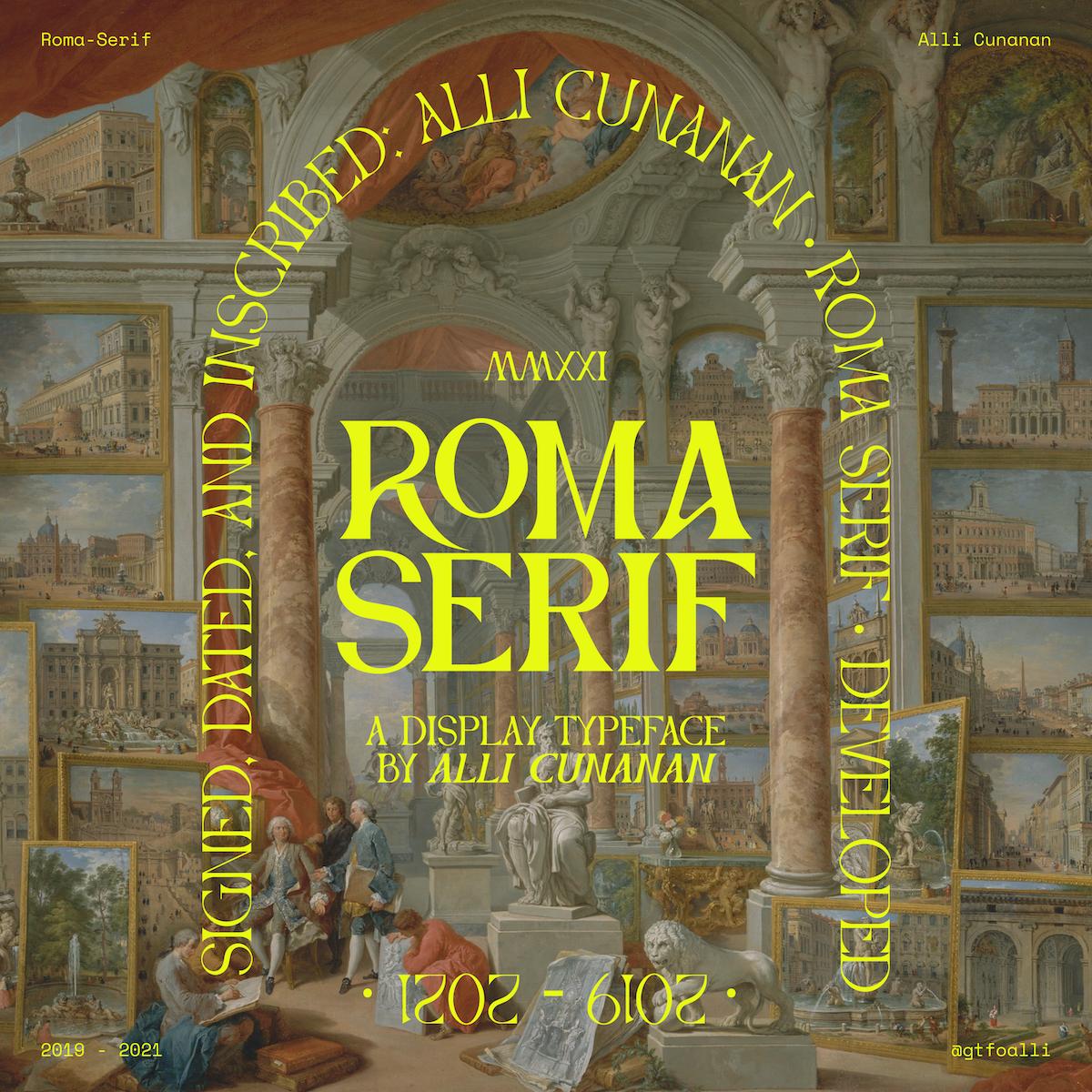 Roma Serif Typeface Specimen