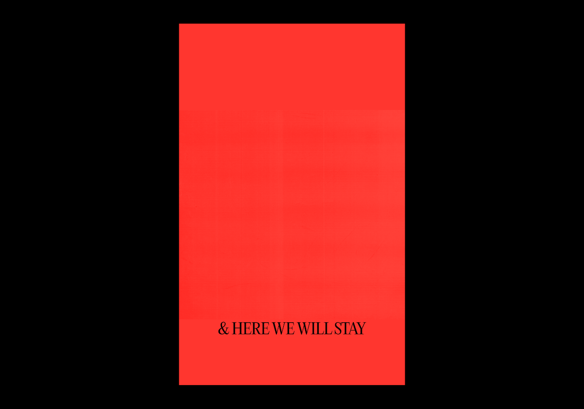 We Are Still Here scrapbook back cover